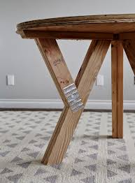 diy wood truss table from ana white com
