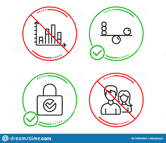 Diagram Graph Balance And Password Encryption Icons Set