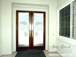 wooden front door with glass oak front door with stained glass