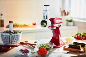 the kitchenaid stand mixer and were pumped to discover that with the help of some extra attachements it can help whip up some delicious healthy meals