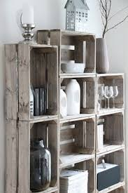 wooden crates furniture. crates as shelves white washed i really like this wooden furniture