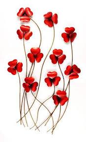 red poppy metal wall art on red poppy metal wall art with red poppy metal wall art home decor pinterest metal wall art