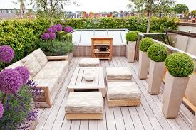 stratford road contemporary rooftop deck idea in london with a container garden wooden coffee table beautiful wood pallet outdoor furniture