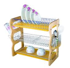 Plate Storage Rack Kitchen Stainless Steel Shelves Kitchen Accessories Restaurant Kitchen