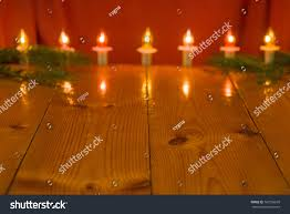 Twinkle Lights Pictures Christmas Background Twinkle Lights Pine Branch Stock Photo