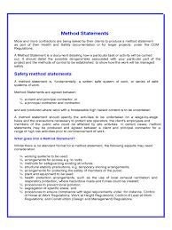 Method Of Statement Sample 100 Method Statement Template For Construction Building Work Method 3