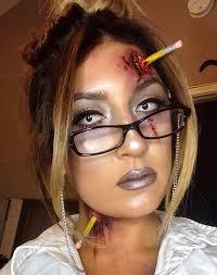 zombie teacher halloween makeup look