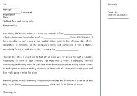 Printable Two Weeks Notice Best Written Resignation Letters Samples ...