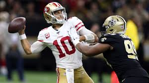 Saints Wide Receivers 2012 Depth Chart Jimmy Garoppolo Is First 49ers Qb To Win Player Of The Week