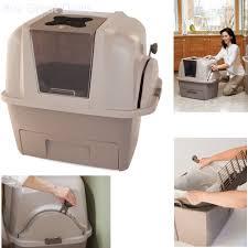 hagen catit hooded cat litter box. Hagen Catit Hooded Cat Litter Box. Self Cleaning Box Automatic Pan Lid Cover