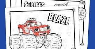 blaze coloring pack nickelodeon pas