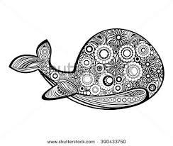 Small Picture Vector Monochrome Hand Drawn Crab Sea Stock Vector 444318901