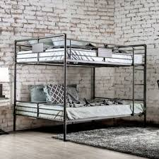 bunk beds with slide and swing. Plain Slide Furniture Of America Herman Antique Black Metal Queenoverqueen Industrial Bunk  Bed With Beds Slide And Swing T