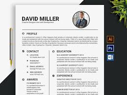 Resume Template Cv Cover Letter By Resume Templates On Dribbble
