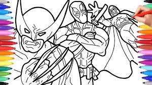 Wolverine is a 2009 american superhero film based on the marvel comics fictional character wolverine. X Men Wolverine Deadpool Magneto Coloring Pages For Kids Marvel Superheroes Coloring Pages Youtube