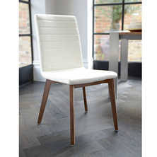 white leather dining room chairs. Parquet Dining Chair Faux Leather Cream White Room Chairs U