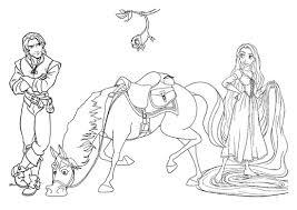 Disegno Di Rapunzel E Flynn Da Stampare Gratis E Da Colorare