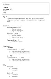 Resume Examples College Student No Experience Graduate Sample For S