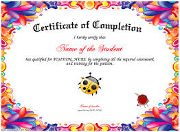 certificates of completion for kids certificate creator certificate maker certificate templates