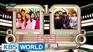 Music Bank K Chart 2017 Music Bank K Chart 4th Week Of November Twice Vs Shinee 2016 11 25