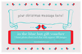 Customized Gift Certificates Christmas Personalised Gift Vouchers In The Blue Hut