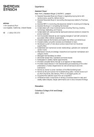 Assistant Buyer Resume Templates Eight Archaicawful No Experience