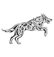 Viking Wolf Drawing