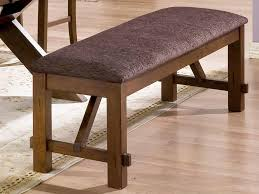 wood bench with upholstered top