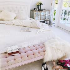 pink bedroom bench. Exellent Bench Pink Tufted Bedroom Bench Intended