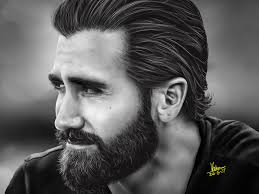Digital Portrait Painting Jake Gyllenhaal Digital Portrait Painting By Vishnu Narayanan