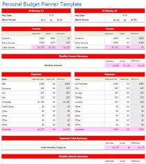 Bi Weekly Household Budget Template Bi Weekly Personal Budget