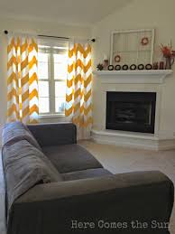 Yellow Curtains For Living Room Yellow Chevron Curtains Here Comes The Sun