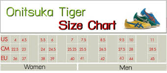 Onitsuka Tiger Shoes Size Chart Peninsula Conflict