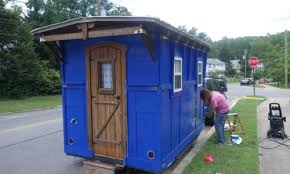 tiny houses in maryland. Cutest Little Blue Shepherd\u0027s Hut Tiny Houses In Maryland