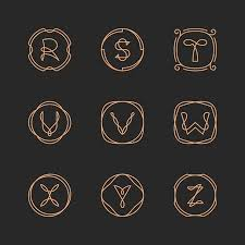 Free Templates For Letters Mesmerizing Vector Letters R S T U V W X Y Z Logo Design Template