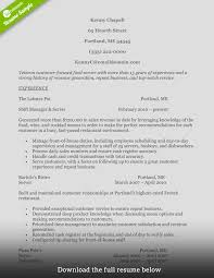 Service Industry Resume Sample How To Write A Perfect Food Service Resume Examples Included 1