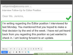 4 Ways To Write A Follow Up Email For A Job Application Wikihow