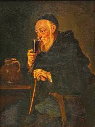 file painting european monk drinking wine xixe jpg