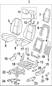 parts com® cadillac seat track driver seat partnumber 22804418 2007 cadillac escalade base v8 6 2 liter gas front seat components