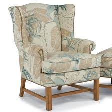 Accent Wingback Chairs Flexsteel Accents Chancellor Wingback Chair With Nailhead Studs