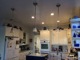 replace pendants with recessed lighting