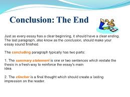 conclusion part of essay answer to task 3 the three parts of a conclusion