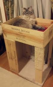 wine crate furniture. Cat Scratcher Made From Recycled Wine Crate. It Is Wood And Partially Covered Crate Furniture
