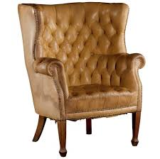 fascinating tufted leather wingback chair for living room interior design with home furniture ideas