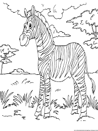 Small Picture Zebra Stripes Coloring Pages Within Without Page esonme
