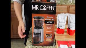 The flat burrs mill the coffee beans transforming them in ground coffee that drops to the metal bowl. Mr Coffee Burr Mill Mistobox Product Reviews Youtube