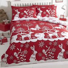 mountain snow red duvet cover sets