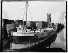 loading lumber steamer lumberyards albert soper boat menominee michigan mi c1898 ebay