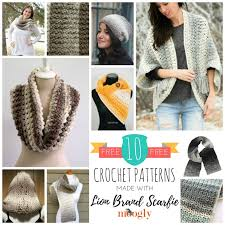 Lion Brand Free Crochet Patterns Impressive 48 Free Crochet Patterns Made With Lion Brand Scarfie Moogly