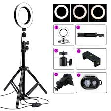Ring Light Tripod For Iphone 6 16cm Dimmable Led Ring Light Lamp Phone Video Lamp With